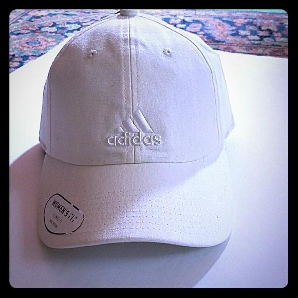 separation shoes 50% off separation shoes amazon 4dc83293a6f8 womens adidas white linen baseball cap ...
